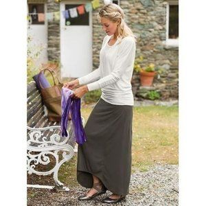 Athleta Small Thrones Brown Maxi Jersey Knit Skirt